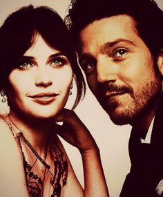 Diego Luna and Felicity Jones
