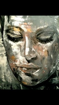 Abstract Portrait, Abstract Wall Art, Portrait Art, Modern Oil Painting, Oil Painting On Canvas, Canvas Art Quotes, Creation Art, Face Art, Art Techniques