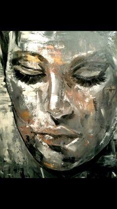 Marion Nap Face Abstract Portrait, Portrait Art, Figurative Kunst, Creation Art, Fantasy Paintings, Arte Pop, Sketch Painting, Human Art, Pastel Art