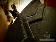 Notched Silk Faced Lapels with Channel Seam