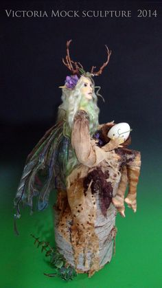 OOAK The WOOD SPRITE One of a kind Art Doll by by VictoriaMock