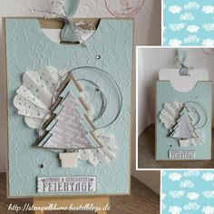 Weihnachtskarte, StampinUp!, Framelits+Stempelset O Tannenbaum....