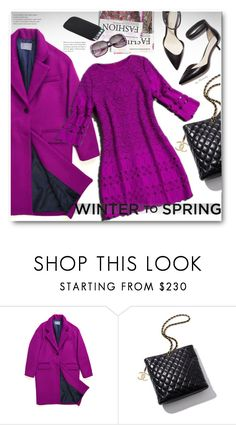 """""""Winter to Spring - Lace Dress"""" by beebeely-look ❤ liked on Polyvore featuring ssongbyssong, Chanel, 3.1 Phillip Lim, Heels, oversized, sammydress, lacedress and Wintertospring"""