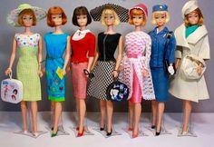 Short hair American Girl Barbies. C. 1965-67