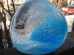 How to Make Decorative Ice Gems for Your Yard (With Step-by-Step Images) - Water Balloons - Ideas of Water Balloons - How to Make Decorative Ice Gems for your Yard What Youll Need: Water Balloons Food coloring Two days to freeze Outdoor Temps < /