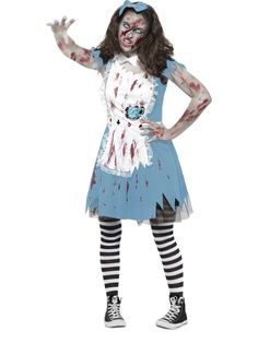 Halloween Nurse Nightmare Light Up Ladies Fancy Dress Costume Size 8-22