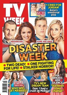 #TVWeek #April #2016 #magazines #realconnections #Neighbours #Home&Away #Heartbeat #MelissaGeorge #MKR