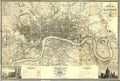 Greenwood's map of London, 1827. Click on different sections to zoom in. Imagemap - select a map panel