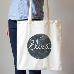 Cotton Canvas Tote Bag-Personalized Tote by OhMyWordDesigns | OH ...