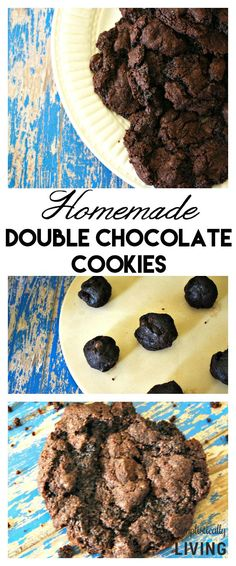 Homemade Double Chocolate Cookies Simplistically Living