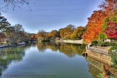 Pullen Park in fall