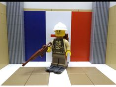 French Soldier of the Ski-Scout Army of the Alps 1939 w/ Adrian helmet, Skis  #LEGO
