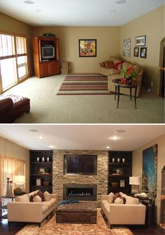 10 Gorgeous Clever Ideas: Small Living Room Remodel Kitchen Makeovers living room remodel on a budget small.Living Room Remodel With Fireplace Tvs living room remodel ideas budget.Small Living Room Remodel Mobile Homes. Living Room On A Budget, Living Room Remodel, Home Living Room, Living Room Designs, Budget Bedroom, Bedroom Ideas, Living Room Makeovers On A Budget, Small Living Room Layout, Bedroom Decor