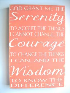 SERENITY PRAYER 12x18 Painted Box Sign by JustSayinDesign on Etsy, $85.00