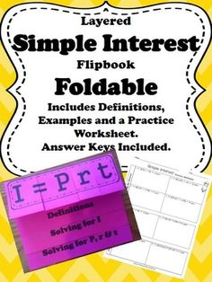 Percents - Simple Interest - Puzzle Activity | Activities, Math ...