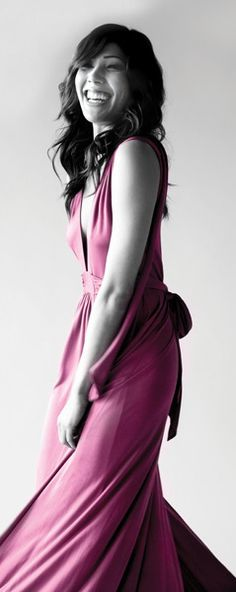 Pink Michaela. - michaela-conlin Photo  I love this dress! Her character on BONES is so creative and fun!