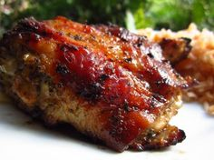 Mexican Grilled Chicken. (Cumin flavored marinade.) Serve veggie-rice chimichanga with this.