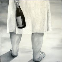 """Champagne caché"" 80 cm x 80 cm Acrylic on canvas"