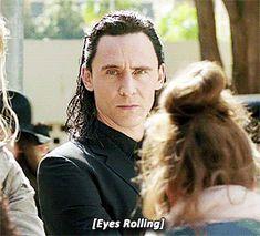OMG Loki getting close to Krysten Ritter level of eye roll ❤️