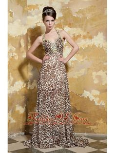 Buy leopard halter brush train beading youth pageant dresses in lealholm from fancy pageant dresses collection, straps neckline column/sheath in brown multi color color,cheap pageant dress with criss cross and brush train for prom pageant celebrity . Affordable Prom Dresses, Unique Prom Dresses, Prom Dresses Online, Prom Dresses Blue, Event Dresses, Pageant Dresses, Formal Evening Dresses, Homecoming Dresses, Prom Outfits