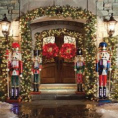 Nutcrackers guarding the front door - no wonder I love Christmas so much