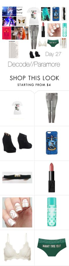 """""""Paramore"""" by cassieee-m ❤ liked on Polyvore featuring Dex, Jeffrey Campbell, NARS Cosmetics, Anine Bing, Victoria's Secret and Out From Under"""