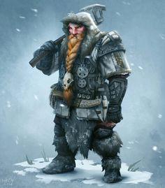 Thurin anão guerreiro nômade