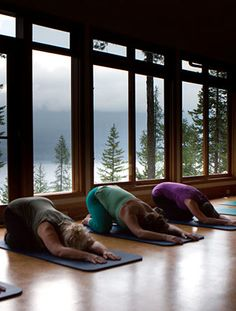 Open yoga space.
