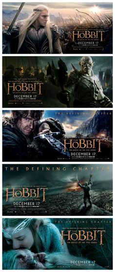 The Hobbit: Battle of the Five Armies banner collection! [that one with Azog and burning Laketown tho]