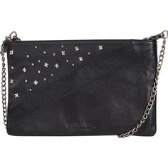 The Demi Monde cross body purse is classy and sassy. Made of quality leather, the decorative studs provide an unexpected edge.