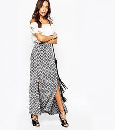 New Look Double Split Maxi Skirt ($37)