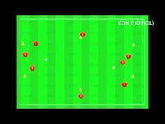 Rueda de pase hexagonal con 1 y 2 balones para 8 jugadores - YouTube