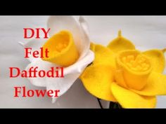 How To Make Felt Daffodil Flower Easy & Simple Tutorial - DIY Membuat Bunga Flanel - YouTube
