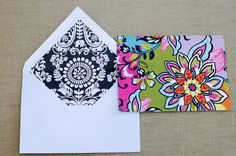 set of 20 notecards with matching envelopes. great gift idea. order online at tre bella.