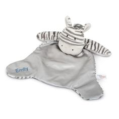 Make nap time even more adorable with the personalized Gund Zebra Huggybuddy Blanket Toy. Made of soft polyester with a satin inner lining, this cuddly zebra is the perfect personalized baby shower gift when embroidered with baby's name.  https://www.thingsremembered.com/gund-zeebs-zebra-comfy-cozy-blanket/product/348093?fcref=pinterest&beta=1