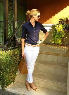 白と黒、差し色にキャメルを入れれば一気におしゃれな雰囲気に♡白パンツのレディースコーデ 着まわし