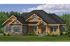 House Plan #456-23; 2,233 sq ft; e bedrm, 2.5 bath, one story