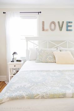 Cozy.Cottage.Cute.: Wall Letters in the Master Bedroom