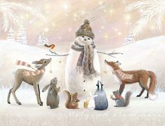 Нежные, добрые и очень милые иллюстрации Sarah Summers. Обсуждение на LiveInternet - Российский Сервис Онлайн-Дневников #christmaspictures