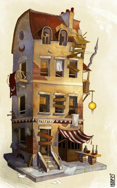 buiding from Cathair color  by ~Catell-Ruz  .... Writing Prompt:  Who lives in this building?