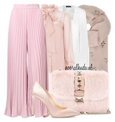 """""""Hijab Outfit #820"""" by hijabhaul ❤ liked on Polyvore featuring Janavi, Boohoo, Temperley London, Valentino, Jimmy Choo and hijab"""