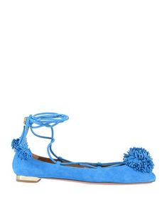 Suede effect<br>Contrasting applications<br>Solid color<br>Wrapping straps closure<br>Round toeline<br>Flat<br>Leather lining<br>Leather sole<br>Contains non-textile parts of animal origin<br> Ballerinas, Espadrille Shoes, Espadrilles, Textiles, Suede, Aquazzura, World Of Fashion, Luxury Branding, Ballet Flats