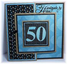 Handmade by Helen J: Joy-fold Masculine 50th Birthday Card
