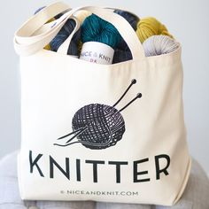 Nice & Knit tote