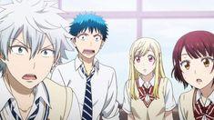 "Toranosuke Miyamura, Ryuu Yamada, Urara ""Sunshine"" Shiraishi and Miyabi Ito (Itou) Otaku, 7 Witches Anime, Ouat Family Tree, Ouat Characters, Character Group, Funny Scenes, Manga Love, Anime Stickers, The Seven"