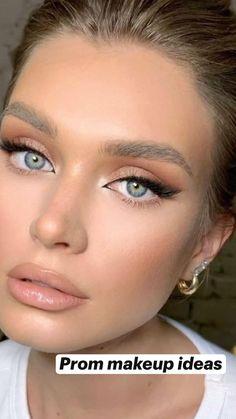Wedding Makeup For Blue Eyes, Wedding Eye Makeup, Blue Eye Makeup, Bridal Hair And Makeup, Wedding Hair And Makeup, Bridesmaid Makeup Blue Eyes, Simple Prom Makeup, Makeup For Bridesmaids, Makeup For Big Eyes