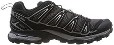 Salomon Mens X Ultra 2 Hiking Shoes Autobahn  Black  Grey 8  Spare Quicklace Bundle *** You can find out more details at the link of the image.