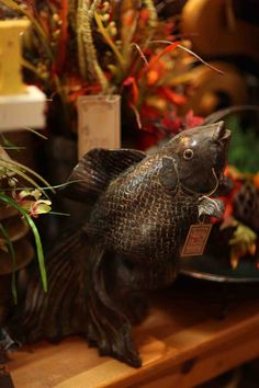 large gray brown decorative fish  Evergreen at the Lake of the Ozarks  Home Decor Store