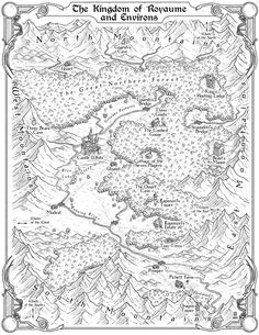 Kingdom of Royaume by MaximePLASSE John Peck The Charming Tales map cartography | Create your own roleplaying game material w/ RPG Bard: www.rpgbard.com | Writing inspiration for Dungeons and Dragons DND D&D Pathfinder PFRPG Warhammer 40k Star Wars Shadowrun Call of Cthulhu Lord of the Rings LoTR + d20 fantasy science fiction scifi horror design | Not Trusty Sword art: click artwork for source