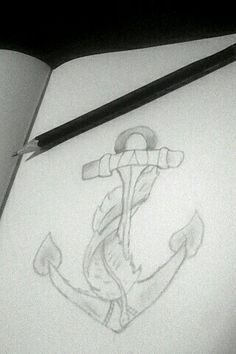 Anker ⚓ How To Make Drawing, Drawings, Art, Anchor, To Draw, Art Background, Kunst, Sketches, Performing Arts